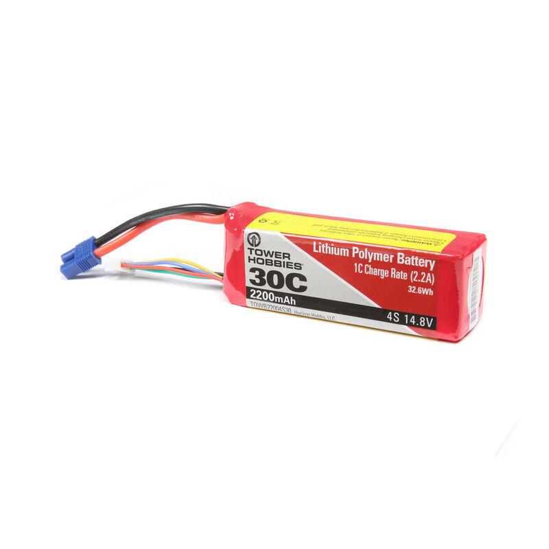 14.8V 2200mAh 4S 30C LiPo: EC3