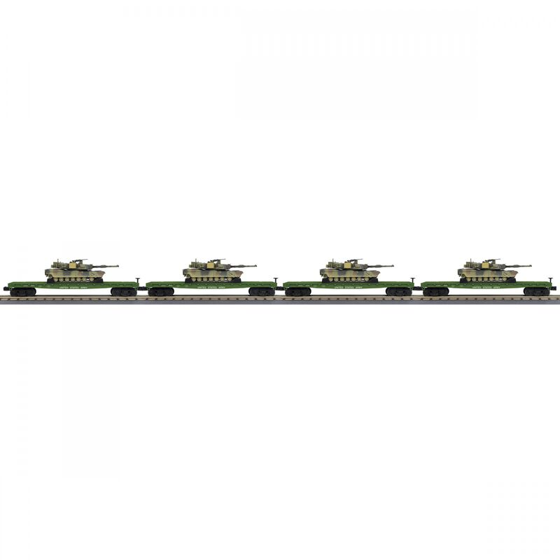O-27 Flat with M1a Abrams Tank Set US Army #8052 (4)