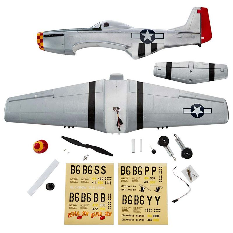 P-51 Mustang Silver EP Rx-R 40""