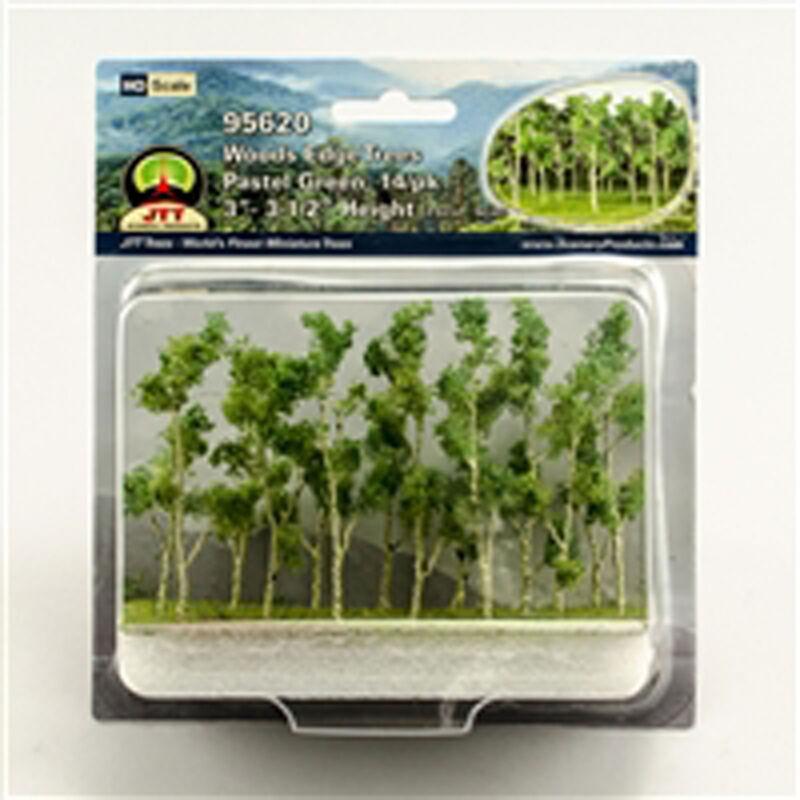 "Woods Edge Trees Pastel Green 3-3.5"" (14)"