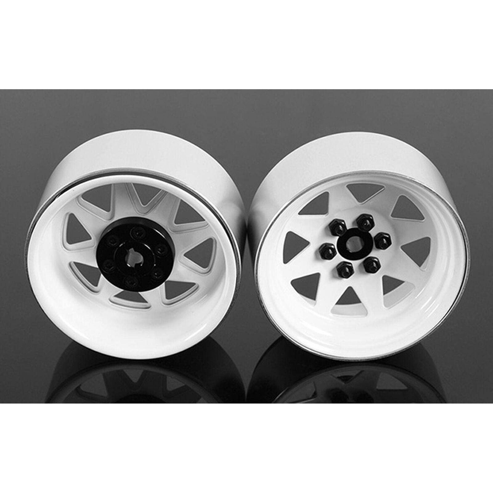6 Lug Wagon 2.2 Steel Stamped Beadlock Wheel, White (4)