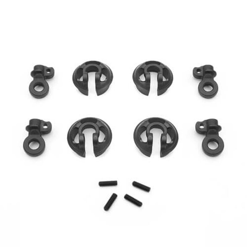 Locking Shock Rod End and Spring Perch Set (13mm)