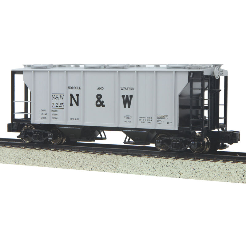 S PS-2 2-Bay Hopper, N&W #71225