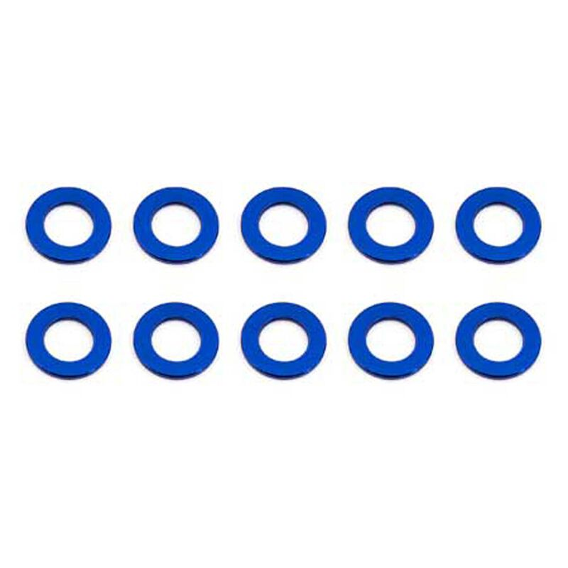 Ballstud Washers, 5.5x0.5mm, Blue Aluminum (10)