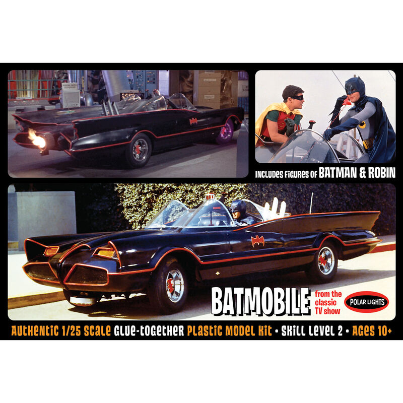 1/25 1966 Batmobile with Batman and Robin Figures