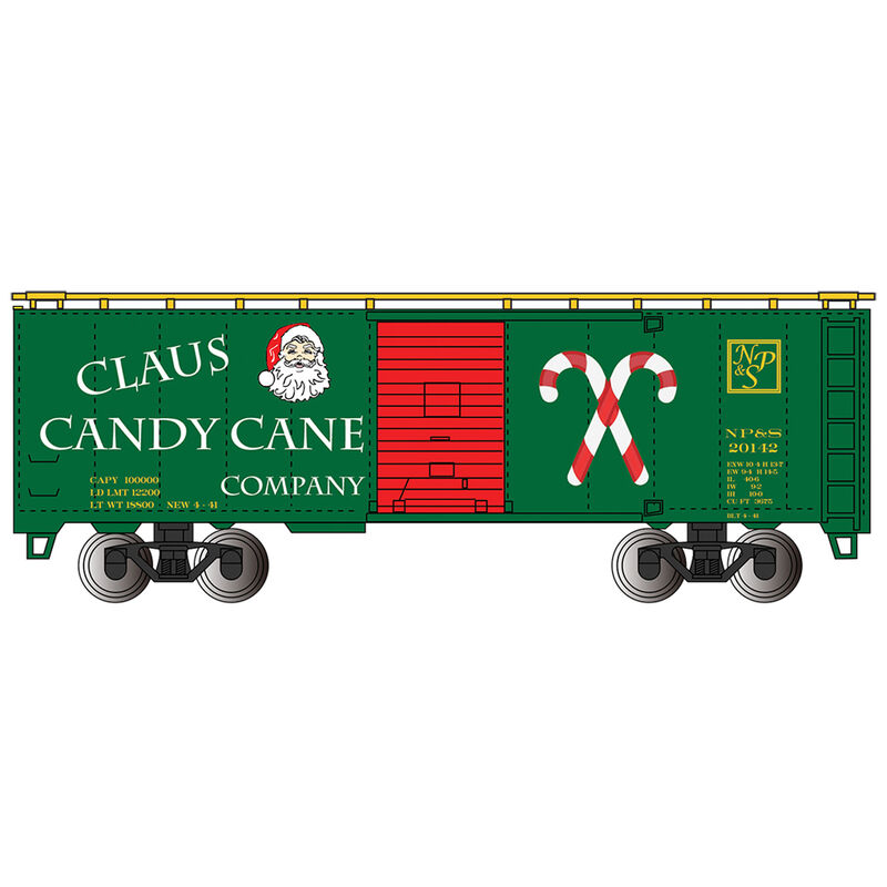 HO 40' PS-1 Box Claus Candy Cane Co