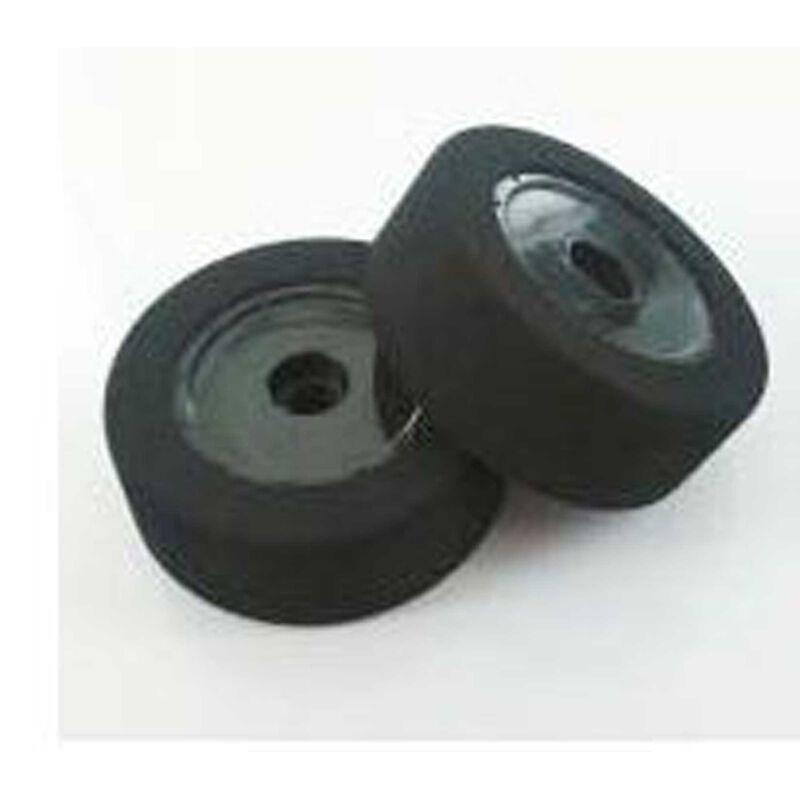 1/10 Foam Custom Works Dirt Oval Rear Mounted Tires, Green (2)