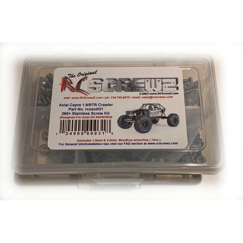 Stainless Steel Screw Kit: Axial Capra 1.9