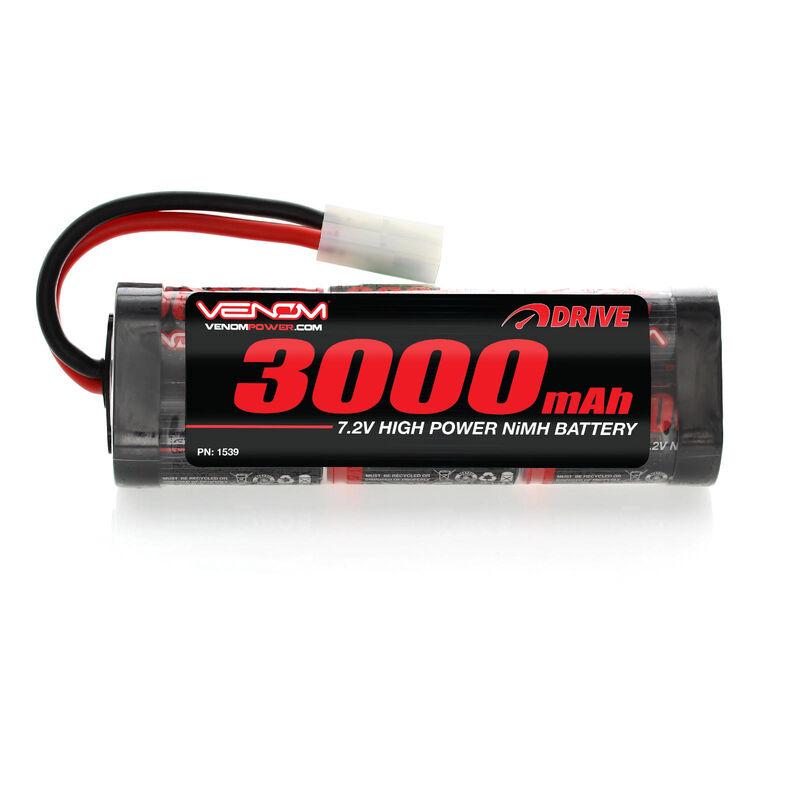 7.2V 3000mAh 6-Cell DRIVE NiMH Starter Battery: Tamiya Connector