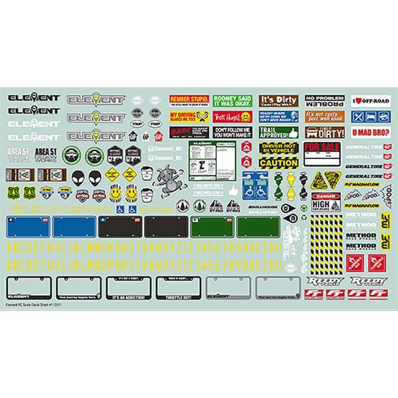 Scale Decal Sheet: Enduro
