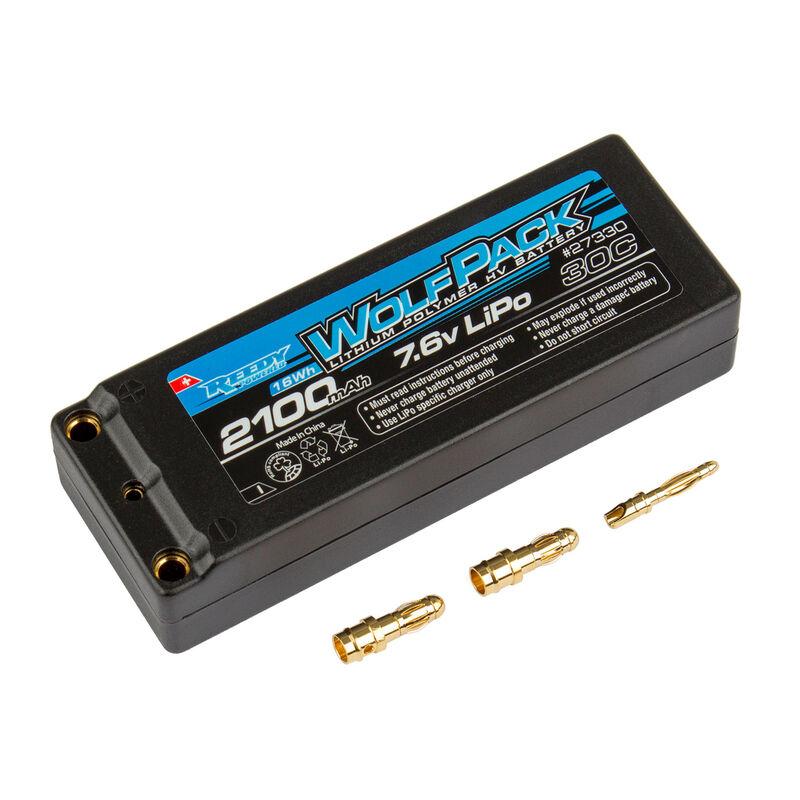 7.6V 2100mAh 2S 30C Reedy Wolfpack Hardcase HV-LiPo Battery: Tubes, 3.5mm