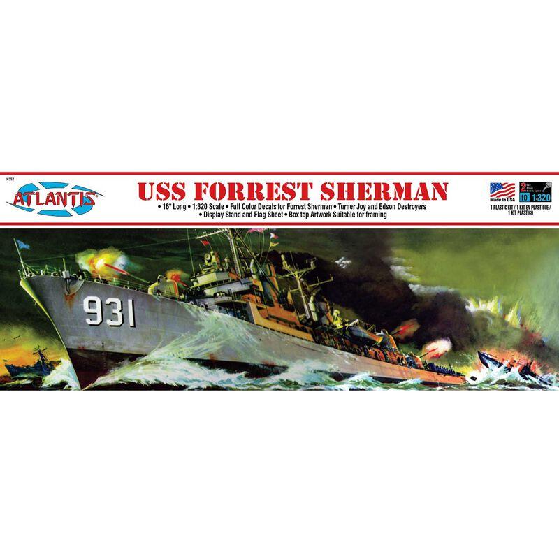 USS Forrest Sherman Destroyer 1/320 Plastic Model