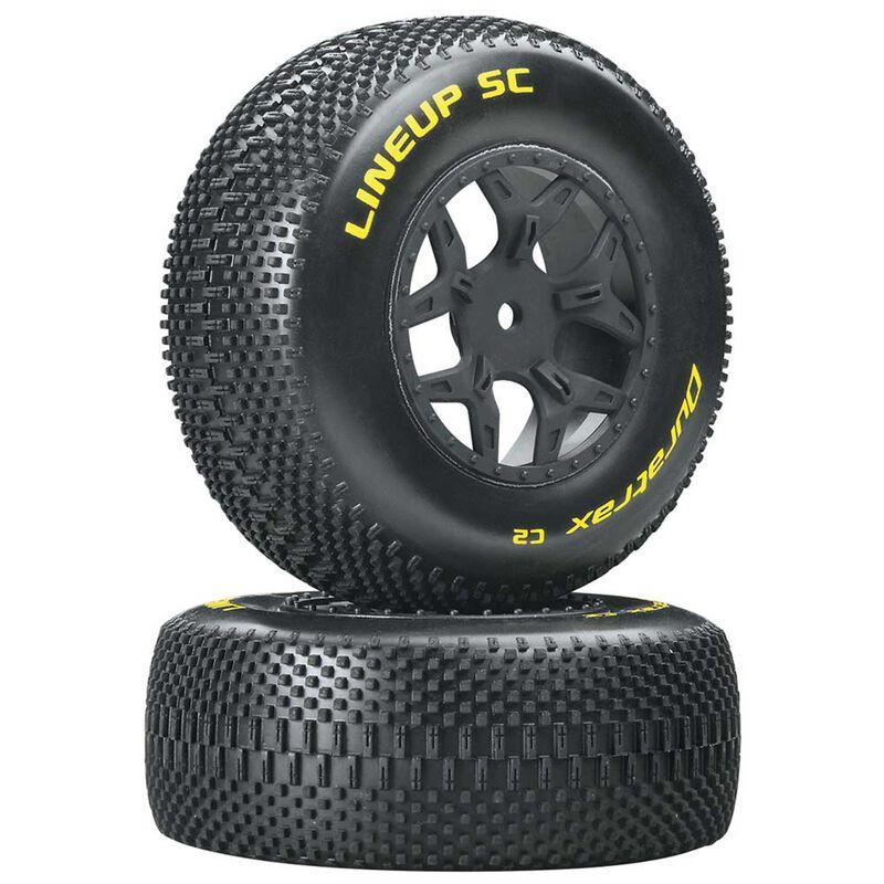 Lineup 1/10 SC Tire C2 Mounted Tires: SCTE 4x4 (2)