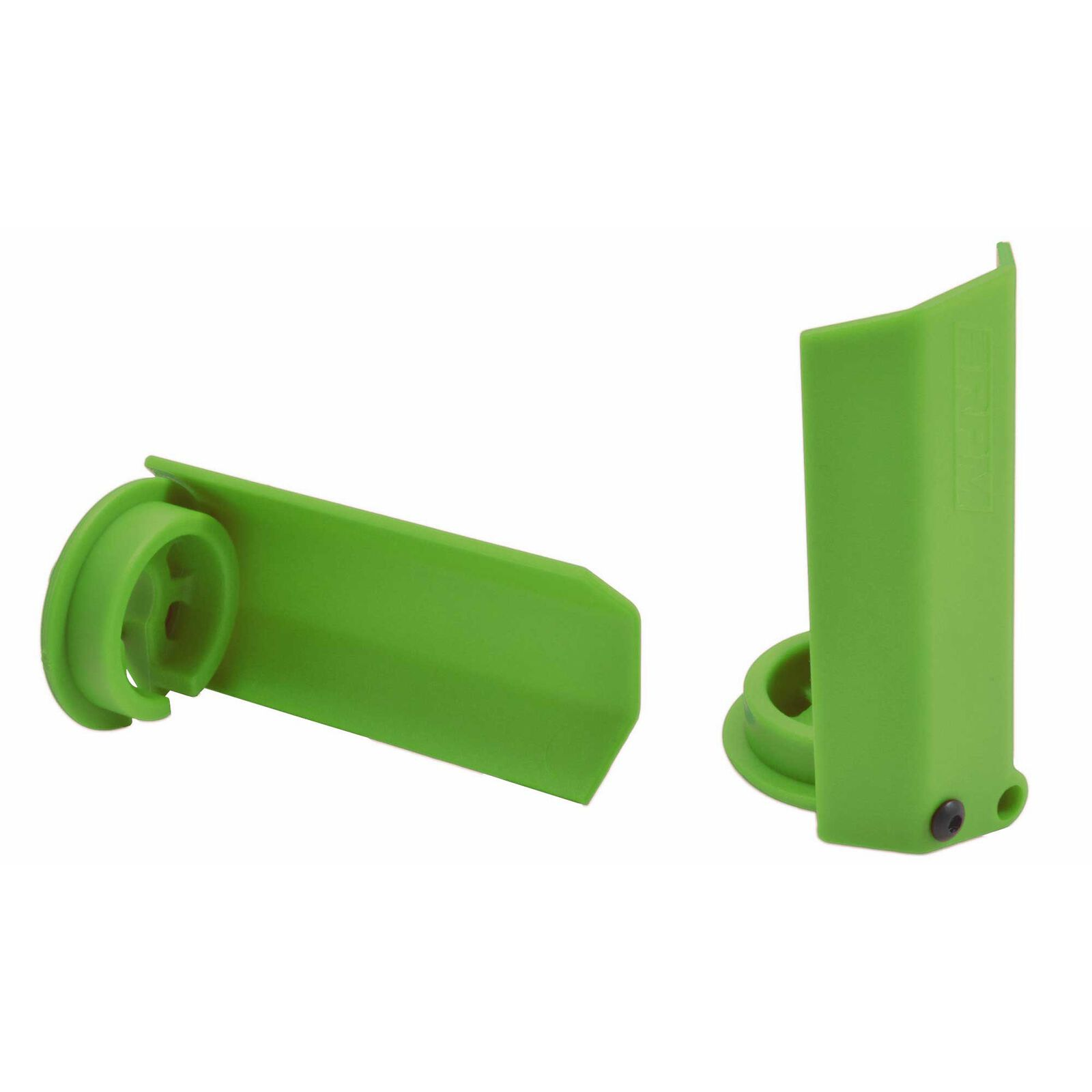 Shock Shaft Guards, Green: Traxxas X-Maxx