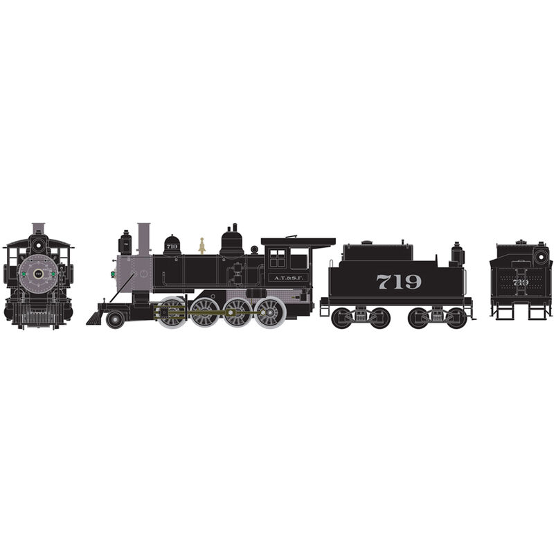 HO RTR Old Time 2-8-0 SF #719