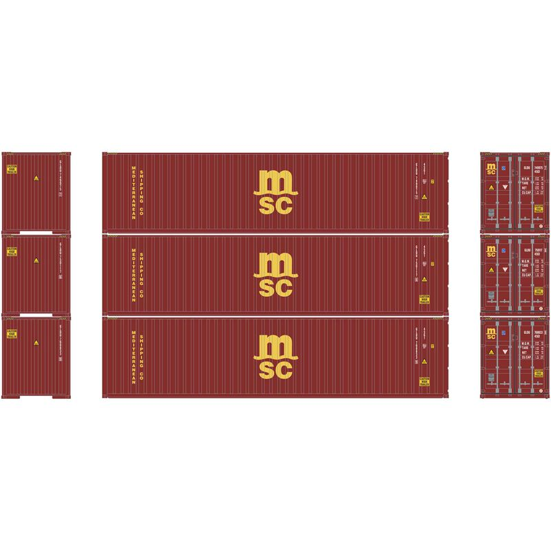 HO RTR 40' High-Cube Container MSC (3)