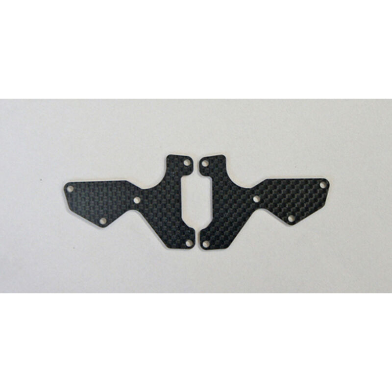 Graphite 1.2mm Front Lower Suspension Arm Mount Plate (2): X8