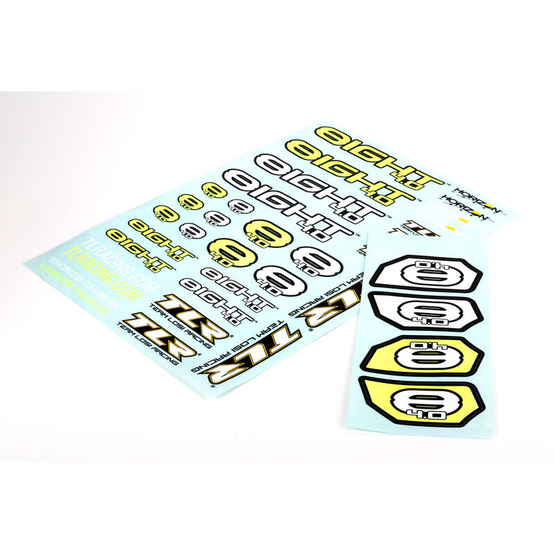 Logo Sticker Sheet: 8IGHT 4.0