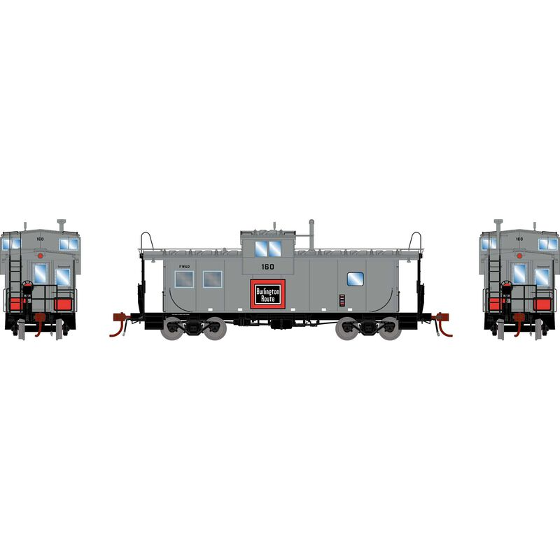 HO ICC Caboose with Lights & Sound, FW&D #160