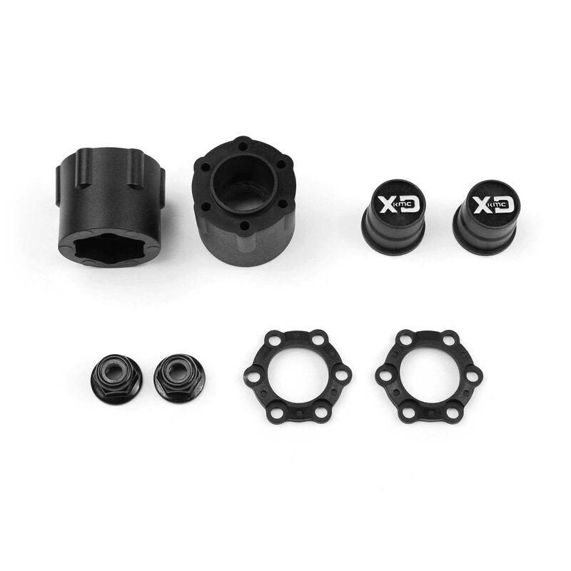 1/10 Incision KMC XD229 Machete 1.9 Crawler Wheels, 12mm Hex, Black Plastic  (2)