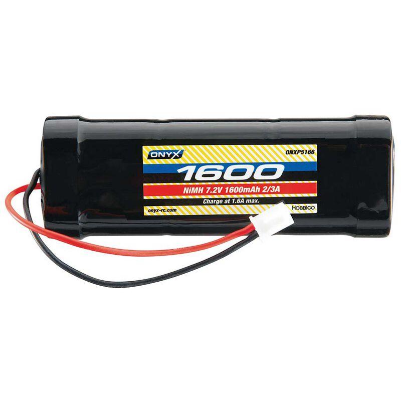 7.2V 1600mAh 2/3A Stick NiMH Battery: XH-1S (Losi Mini Plug)