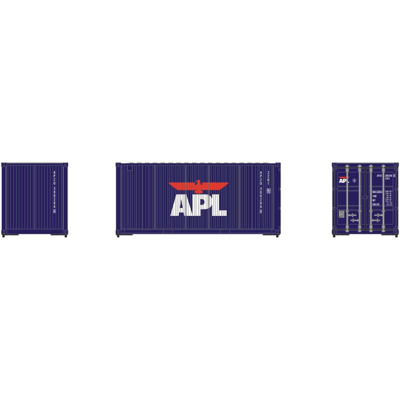HO RTR 20' Corrugated Container APL (3)