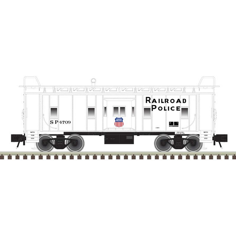 O Bay Window Caboose UP Railroad Police 4709