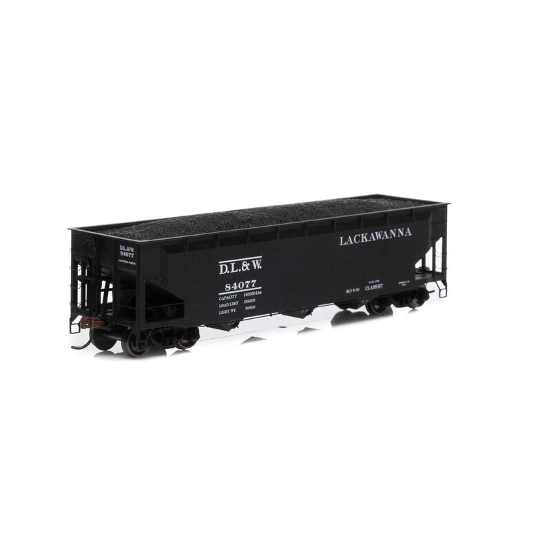 HO RTR 40' 3-Bay Offset Hopper with Load DL&W #84077