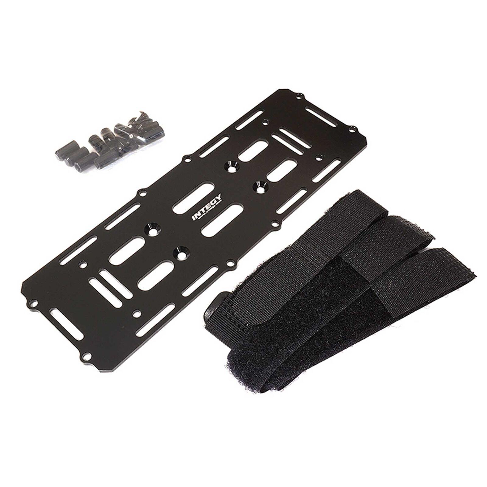 Battery Mounting Plate, Black: 1/10 Enduro Sendero