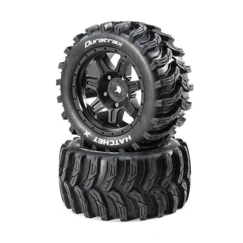 Hatchet X Belted Mounted Tires, 24mm Black (2)
