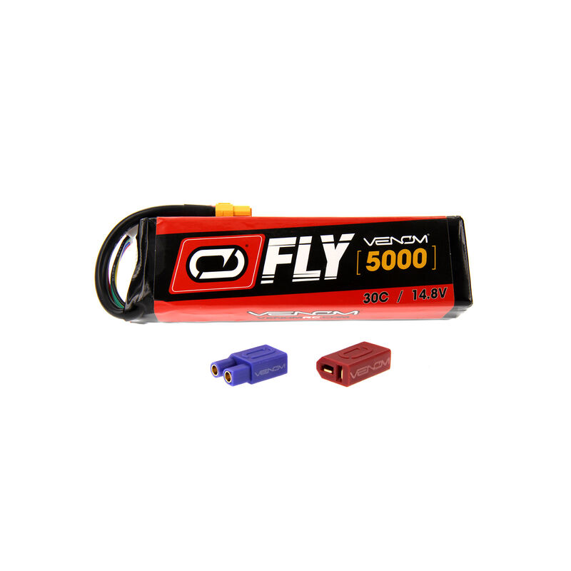 14.8V 5000mAh 4S 30C FLY LiPo Battery: UNI 2.0 Plug