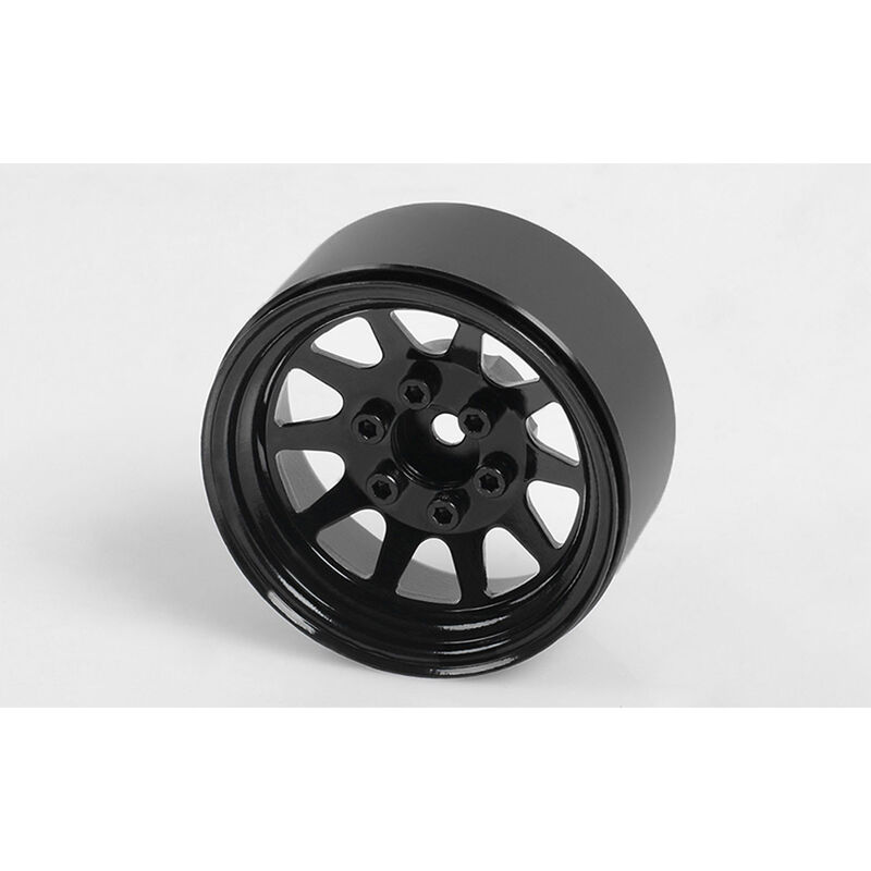 OEM Stamped Steel 1.9 Beadlock Wheels, Black (4)