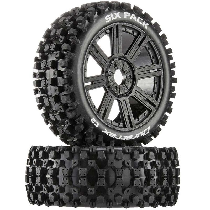 Six-Pack C2 Mounted Buggy Spoke Tires, Black (2)