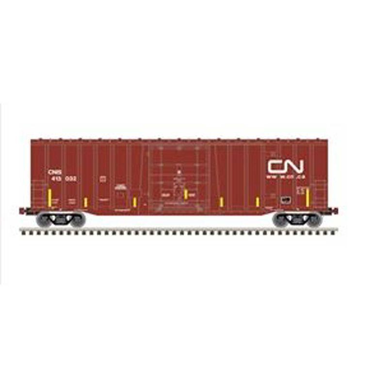 HO NSC 50' Plugdoor Boxcar (CNIS) 413062, Brown/White
