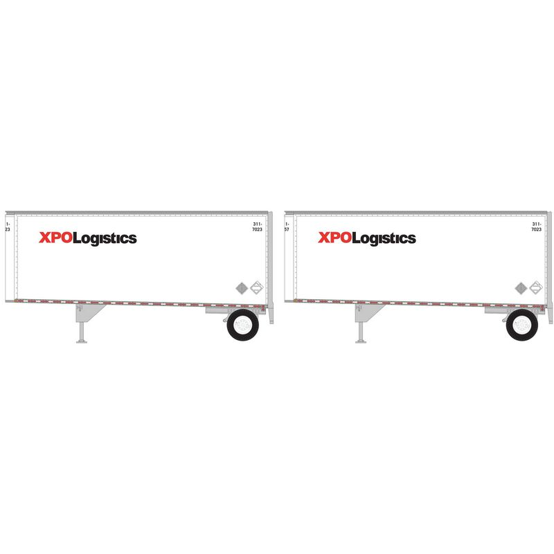 HO RTR 28' Trailers with Dolly XPO (2)