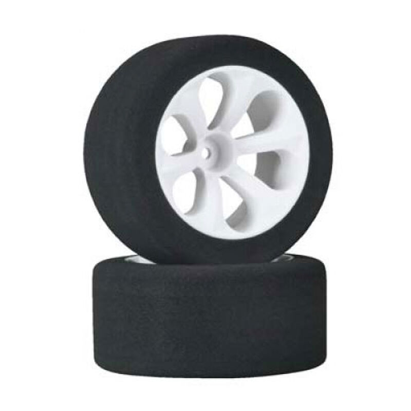 "Low Profile ""Purple"" (Firm Rubber) Foam Tires On Prism VXL Wheels (2): RU/ST VXL"