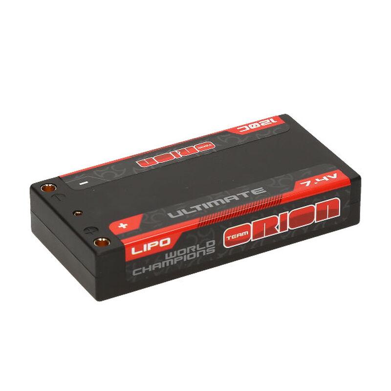 7.4V 3600mAh 2S 120C Ultimate Graphene Shorty Lipo Battery: Tubes, 4mm