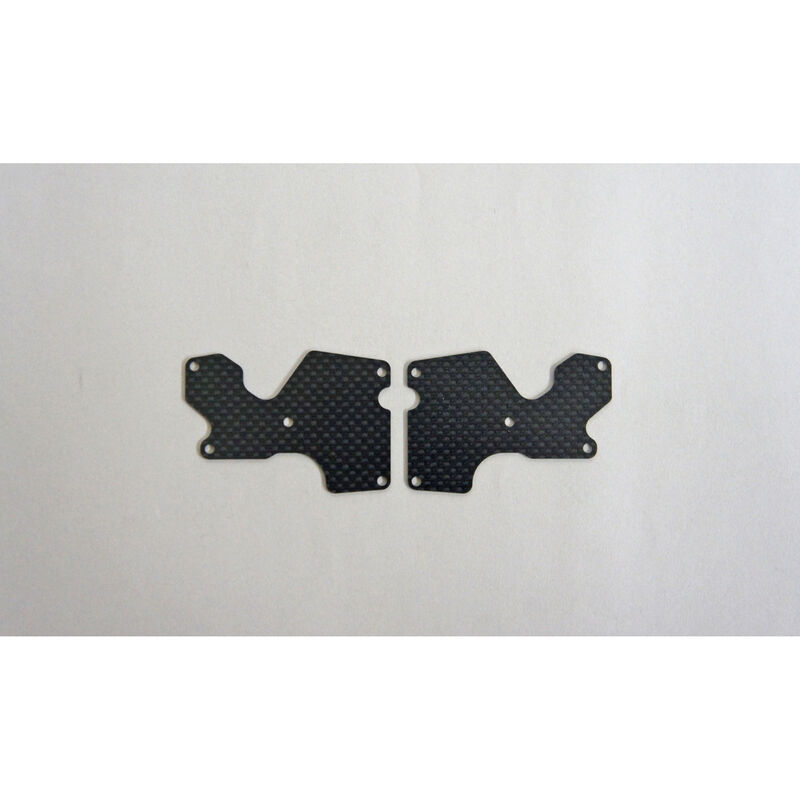 Graphite 1mm Rear Lower Suspension Arm Mount Plate (2): X8