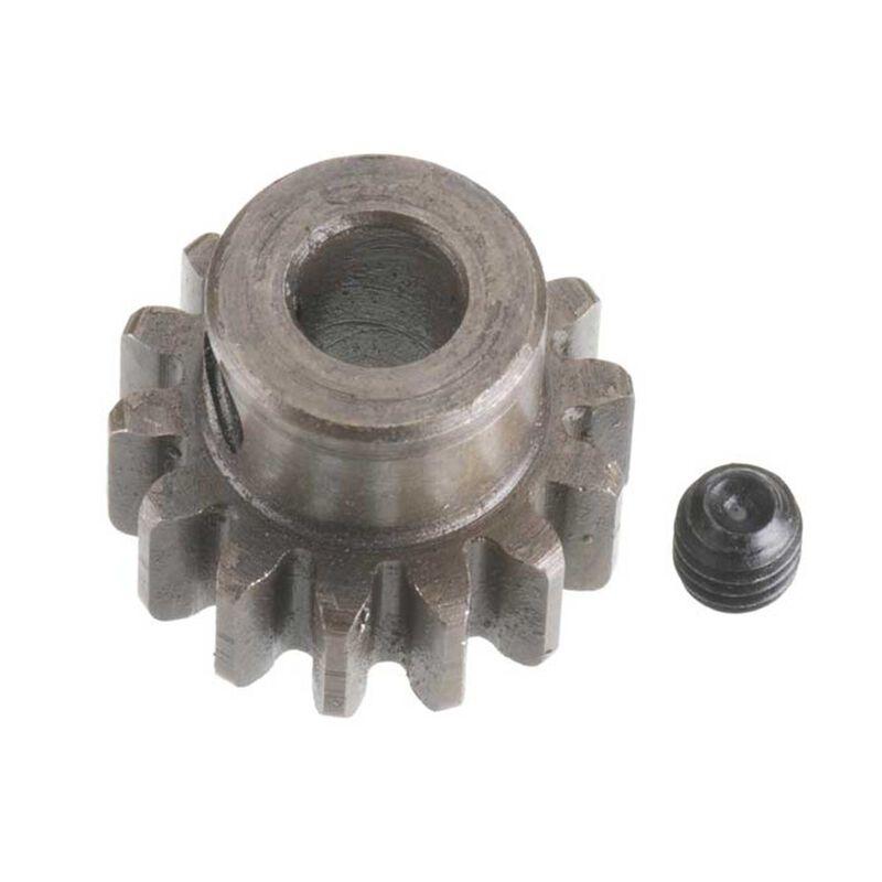 Extra Hard Steel 5mm Bore 1 Module Pinion, 14T