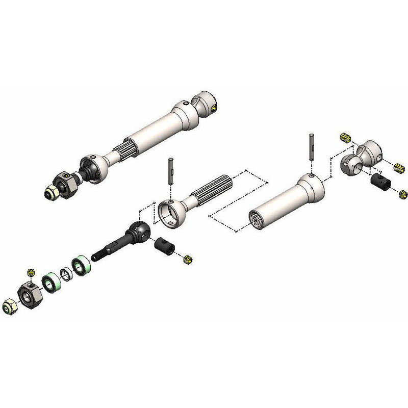 Rear X-DUTY CVD Kit, keyed: Slash, Slash 4x4