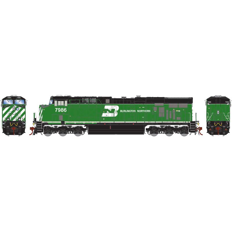 HO ES44AC with DCC & Sound BN #7986