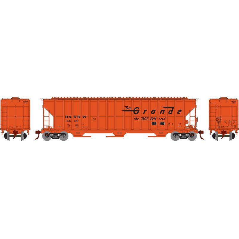 HO RTR FMC 4700 Covered Hopper, D&RGW #15665