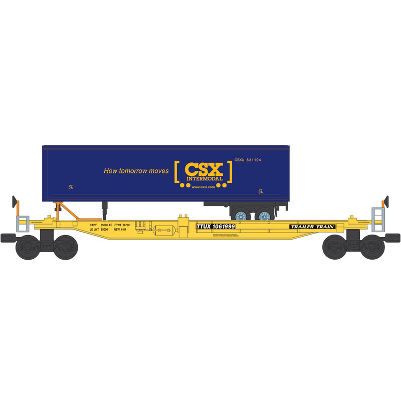 O Williams Front Runner with Trailer, CSX