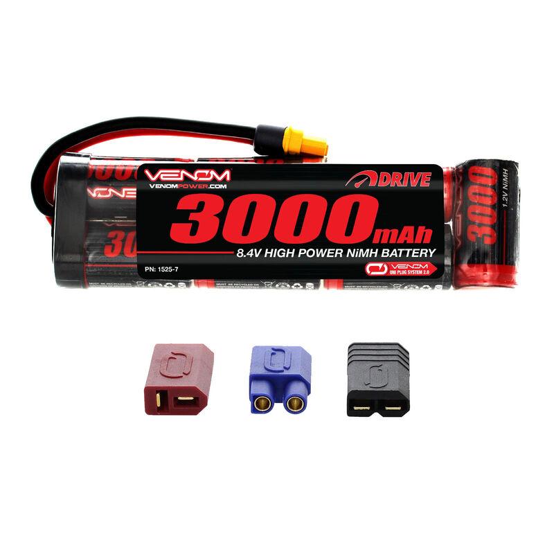 8.4V 3000mAh 7-Cell DRIVE Flat NiMH Battery: UNI 2.0 Plug