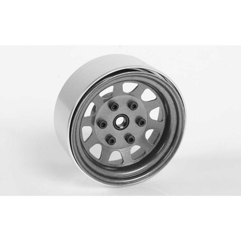 "Stamped Steel 1.7"" Beadlock Wagon Wheels, Clear"