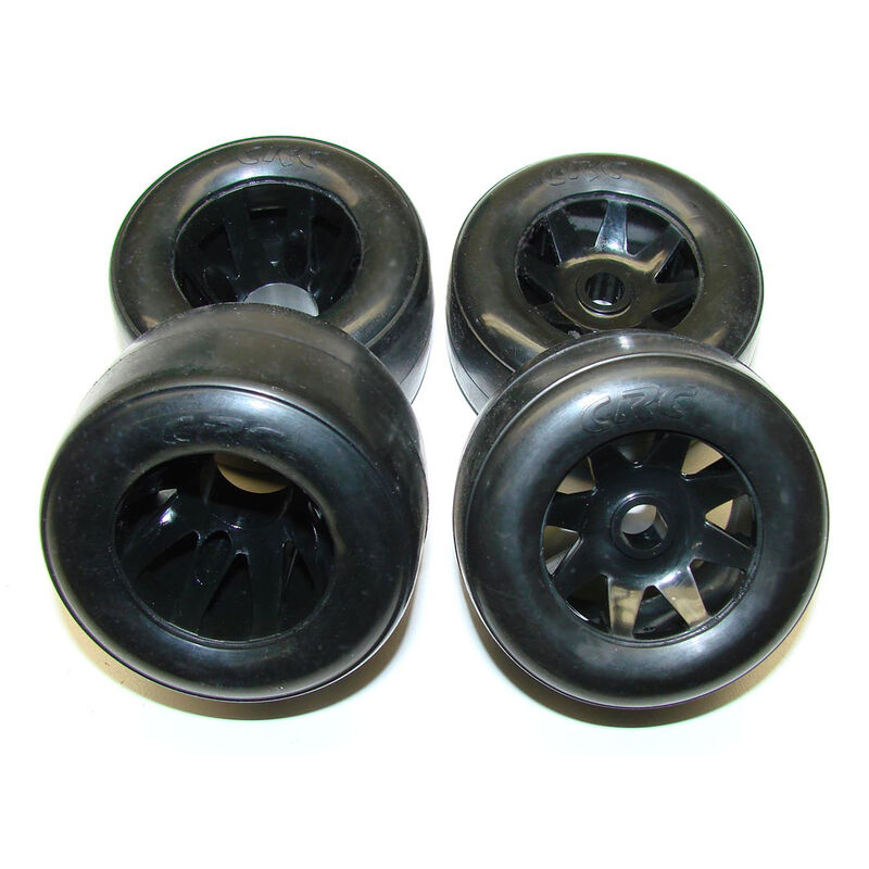 RT-1 Front & Rear Mounted GTR Rim Rubber Tire (4)