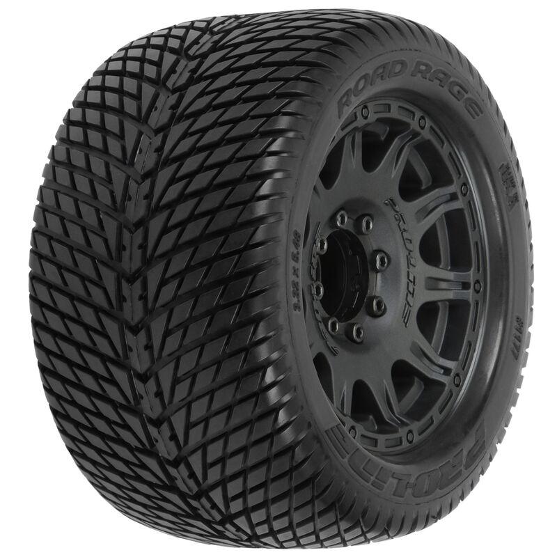 "Road Rage 3.8"" Mounted Raid MT Tires, 8x32 17mm (F/R)"