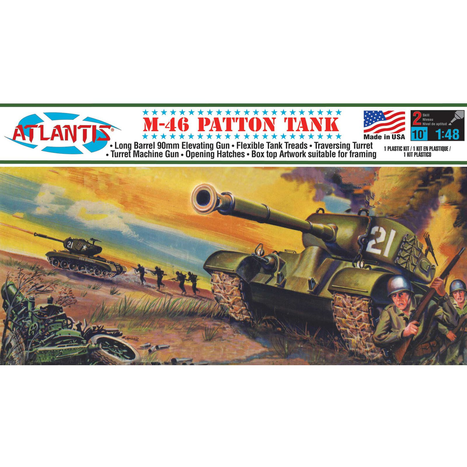 M-46 Patton Tank 1/48 Plastic Model Kit