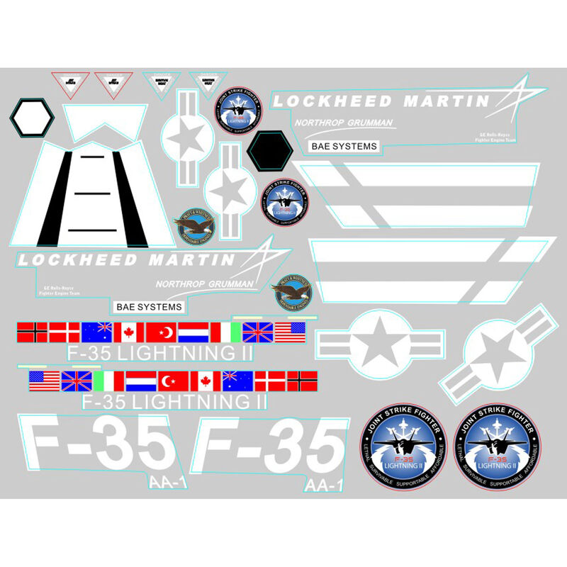 Decal Sheet: F35 V2