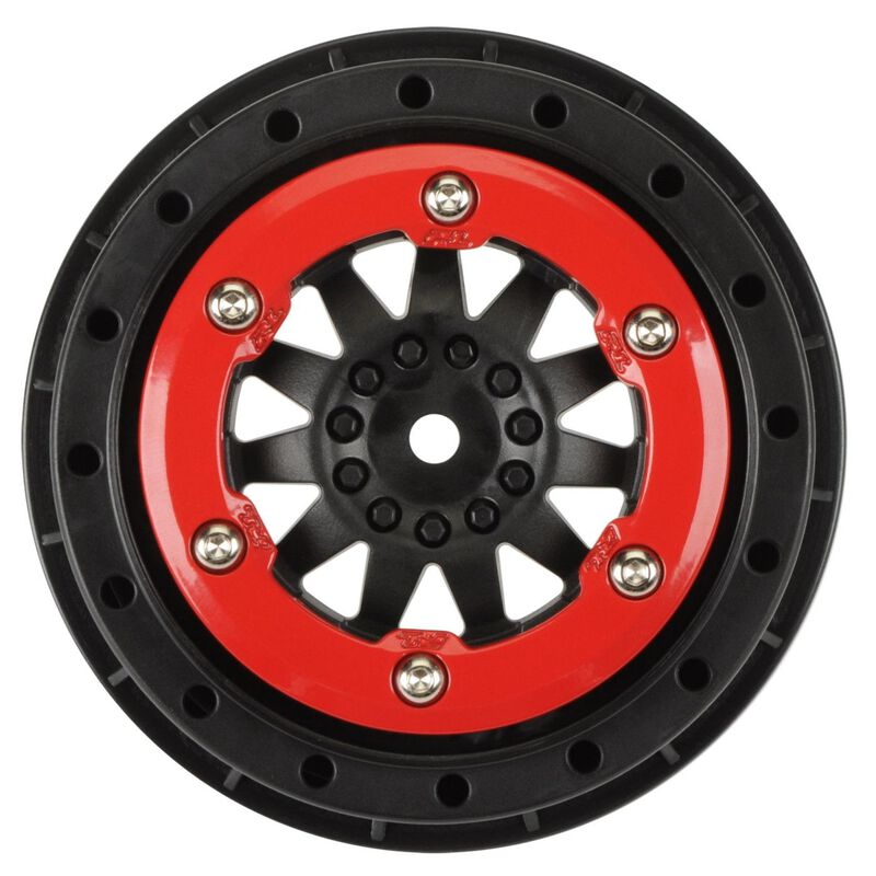 ProTrac Suspension F11 2.2/3.0 Red/Black Bead-Loc Wheel